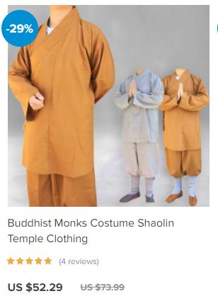 Shaolin monks clothing