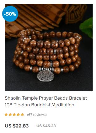 Shaolin temple meditation 108 beads